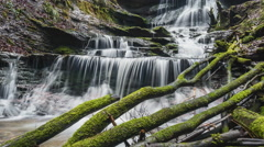 waterfall in a canyon - stock footage