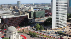 Birmingham city centre panoramic cityscape view Stock Footage