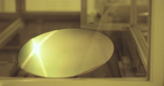 Silicon wafer testing  - stock footage