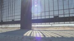 Looking Through the Fence on the US and Mexico Border Stock Footage