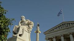 Greek Philosophers Socrates - stock footage