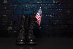 Boots with Flag Stock Photos