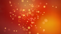 Animated nice visual slow moving orange yellow red circle particles Stock Footage