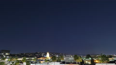 Nighttime Time Lapse of Beverly Hills Stock Footage