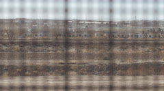 Looking Through the Fence on the US and Mexico Border 3 - stock footage