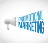 promotional marketing megaphone message concept - stock illustration