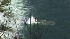 Rolling waves with upsurge Stock Footage