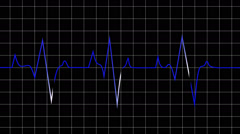 Animated loop able heart beat graphic depicted on black graph Stock Footage