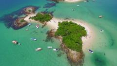 Aerial View of Cataguases Island in Angra dos Reis, Rio de Janeiro, Brazil Stock Footage