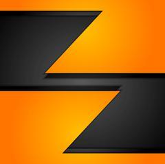 Stock Illustration of Orange corporate tech background