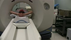Man Getting Cat Scan In Hospital Stock Footage