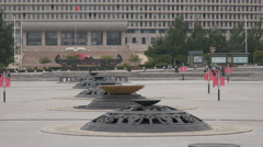 China modern ghost city, empty streets, square, town hall, Ordos Arkistovideo