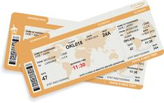 Vector illustration of airline boarding pass - stock illustration