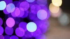 Bokeh light purple color Stock Footage
