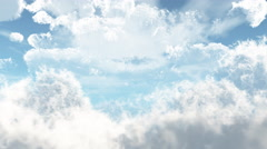 Fly through animated clouds in 4K - stock footage