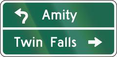 United States MUTCD guide road sign - Destination sign - stock illustration
