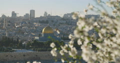 The temple mount in the old city of Jerusalem Stock Footage