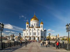 Cathedral of Christ the Savior. Moscow - stock photo