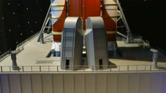 Orion Spacecraft and SLS Model at Kennedy Space Center, 4K Stock Footage