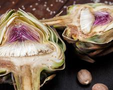 The ripe artichoke Stock Photos