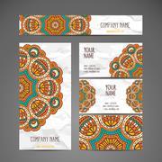 Business card. Vintage decorative elements - stock illustration