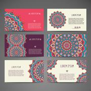 Business card. Vintage decorative elements Stock Illustration