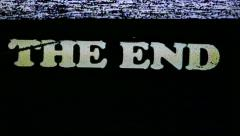 VHS Tape The End Title Stock Footage