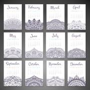 Stock Illustration of Vector Calendar 2016