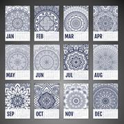 Vector Calendar 2016 Stock Illustration