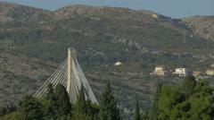 View of Franjo Tudjman Bridge's top in Dubrovnik, Croatia Stock Footage