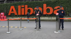 China Alibaba office Hangzhou, internet services, online, commercial, tech giant Stock Footage