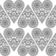 Ethnic floral seamless pattern - stock illustration