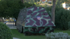 Majsan Armored Car in Dubrovnik, Croatia Stock Footage
