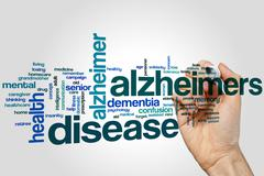 Alzheimers disease word cloud Stock Photos