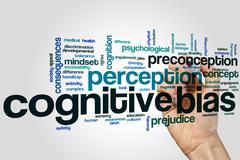 Cognitive bias word cloud Stock Photos