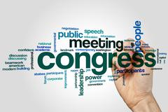 Congress word cloud - stock photo