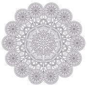 Vector round Mandala Stock Illustration