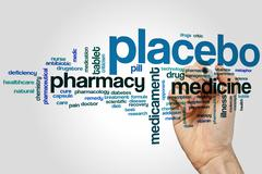 Placebo word cloud Stock Photos