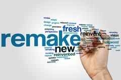 Remake word cloud Stock Photos