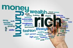 Rich word cloud concept Stock Photos