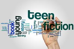 Teen fiction word cloud Stock Photos