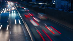 4k Time lapse at night highway. peak hour in the city Stock Footage