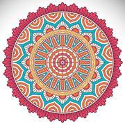 Vector round Mandala - stock illustration
