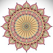 Vector round Mandala - stock illustration