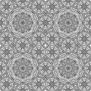 Ethnic floral seamless pattern Stock Illustration