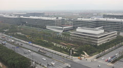 Chinese technology company Alibaba headquarter office in Hangzhou Stock Footage