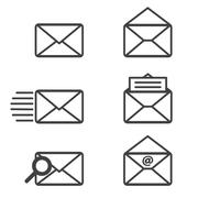 Mail icons. vector graphics - stock illustration