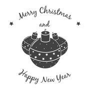 Christmas ornaments, xmas Background - stock illustration