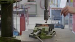 Rotating work tool - stock footage