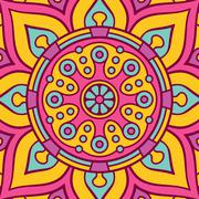 Mandala in ethnic style - stock illustration